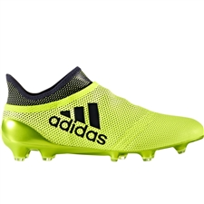 Adidas X 17+ PureSpeed FG Soccer Cleats (Solar Yellow/Legend Ink/Legend Ink)