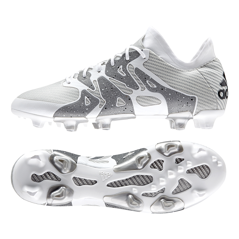197.99 - Adidas X 15.1 FG AG Soccer Cleats (White Black Silver ... dee494f25393