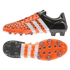 Adidas ACE 15.1 FG/AG Soccer Cleats (Solar Orange/White/Black)
