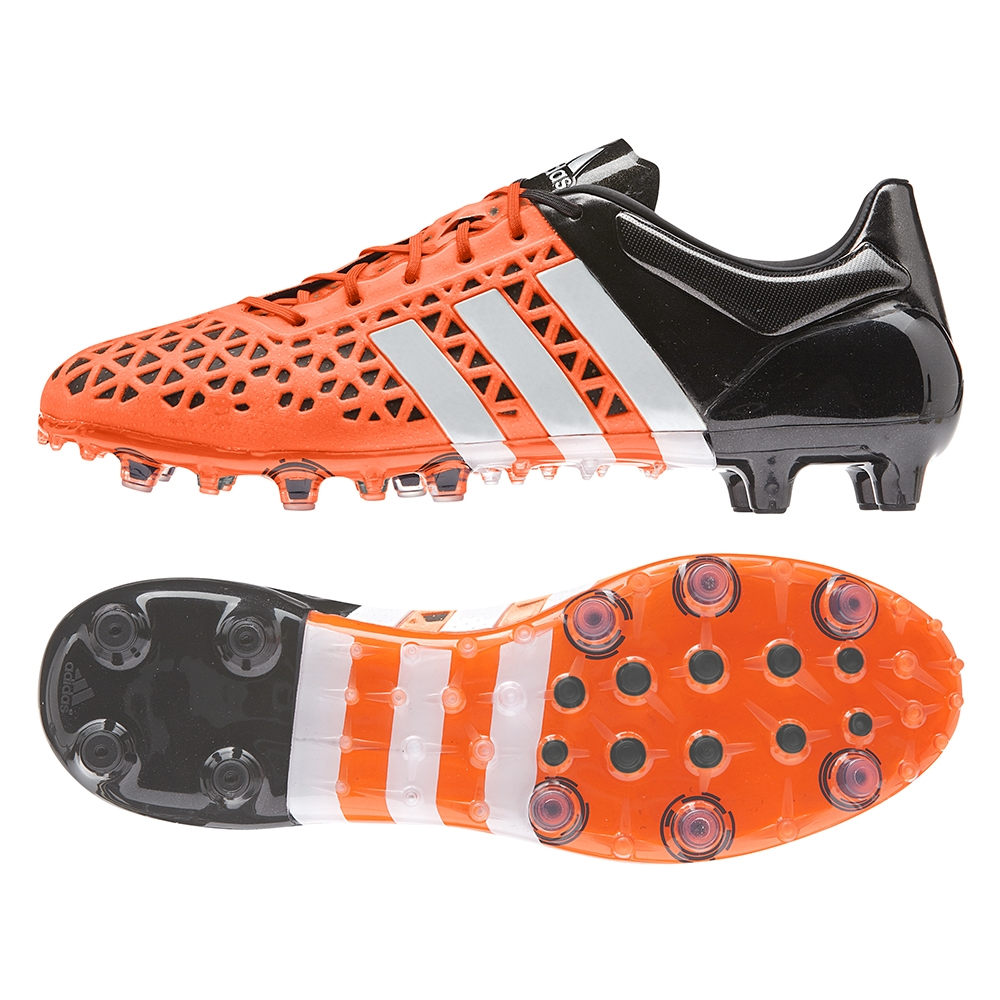 brand new 0d261 366e0 Adidas ACE 15.1 FG/AG Soccer Cleats (Solar Orange/White/Black)