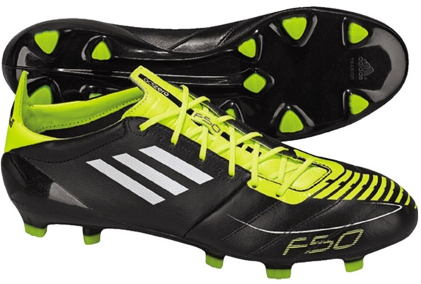 adidas f50 adizero leather black and yellow