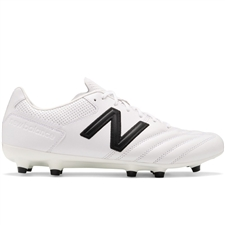 New Balance 442 Pro FG Soccer Cleats (White/Black)