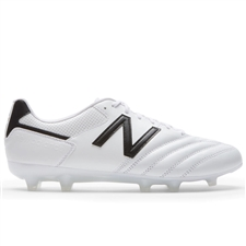 New Balance 442 Team FG Soccer Cleats (White/Black)