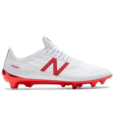 New Balance Furon 4.0 Pro FG Soccer Cleats (White/Red)