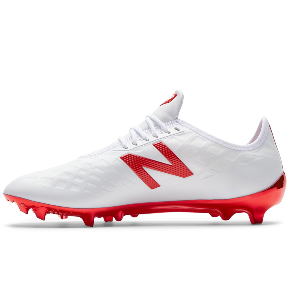 10a386278 New Balance Furon 4.0 Pro FG Soccer Cleats (White Red)