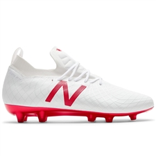 New Balance Tekela 1.0 Pro FG Soccer Cleats (White/Red)