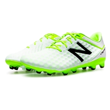 New Balance Visaro Pro FG Soccer Cleats (White/Toxic)