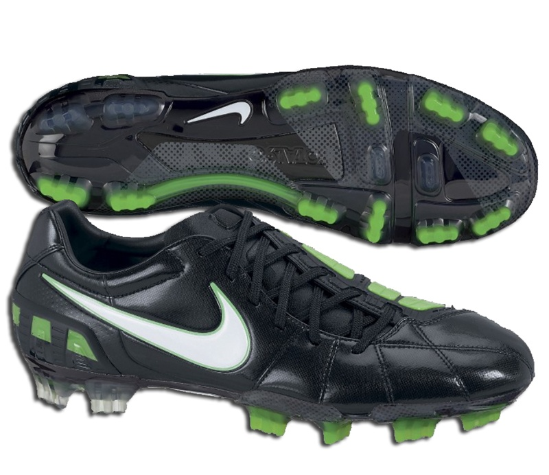 Nike Total90 Laser III FG Soccer Cleats (Black/White/Electric Green)