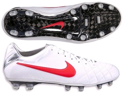 908b10b17 Nike Tiempo Legend IV Elite FG Soccer Cleats (White/Siren Red/Metallic  Platinum