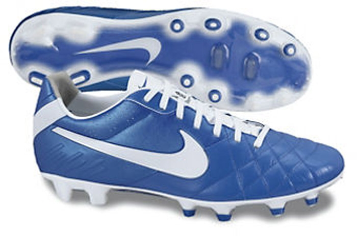 37816c9b0 Nike Soccer Cleats|454316-419| Nike Tiempo Legend in Blue and White ...