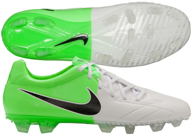 d2b021659947 Soccer Cleats  Nike Total90 Laser IV KL in Green and White   FREE SHIPPING    472555-170   SOCCERCORNER.COM
