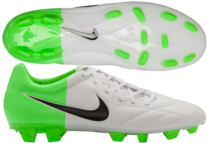 huge discount af25e 0c8a5 Soccer Cleats  Nike T90 Strike IV FG Soccer Cleats in White and Green  Nike  Soccer Cleats   472562-170   SOCCERCORNER.com