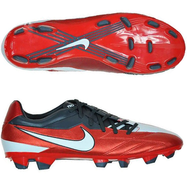 958fea305031 Nike T90 Strike IV FG Soccer Cleats in Red and White