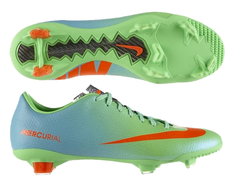 f6f0ac195 Nike Mercurial Veloce FG Soccer Cleats (Neo Lime Metallic Silver Polarized  Blue