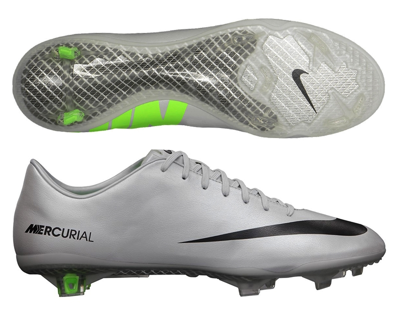 05544e036a1f2 Nike Mercurial Vapor IX Soccer Cleats (Metallic Platinum/Electric  Green/Black)