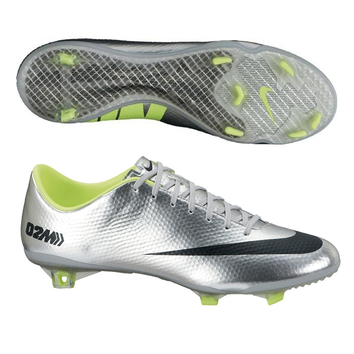 Nike Mercurial Vapor IX Soccer Cleats (Metallic Silver/Volt/Black)