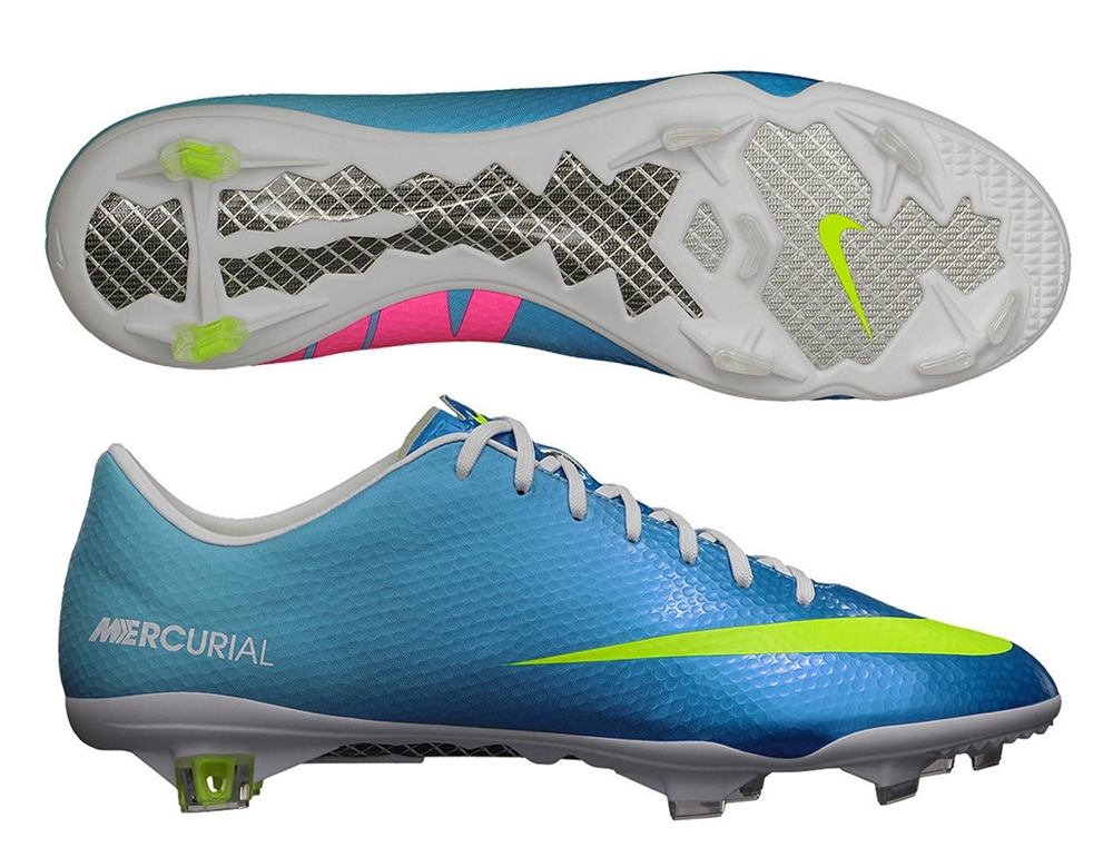 nike shoes mercurial blue and pink logo 857757