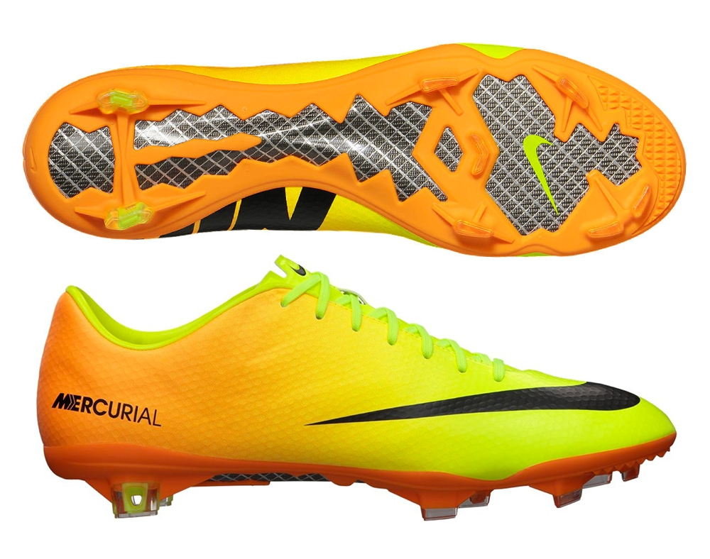 e0718ac8ddbc2 Nike Mercurial Vapor IX Soccer Cleats (Volt/Bright Citrus/Black)