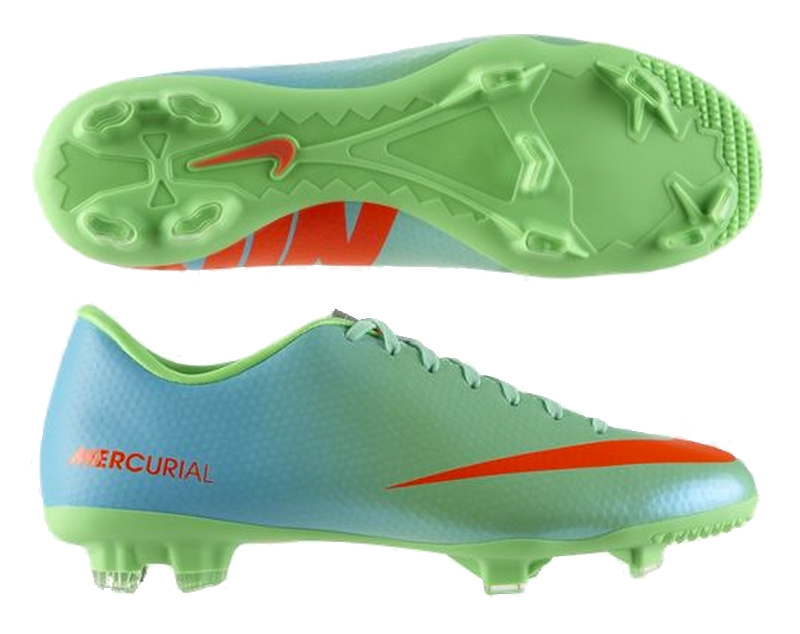 Nike Mercurial Victory IV FG Soccer Cleats (Neo Lime/Metallic  Silver/Polarized Blue