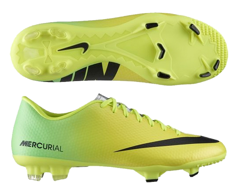 ... Nike Mercurial Victory IV FG Soccer Cleats (Vibrant Yellow/Black/Neo  Lime)