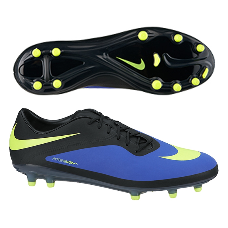 Nike HyperVenom Phatal FG Cleats Black Green White  3129815
