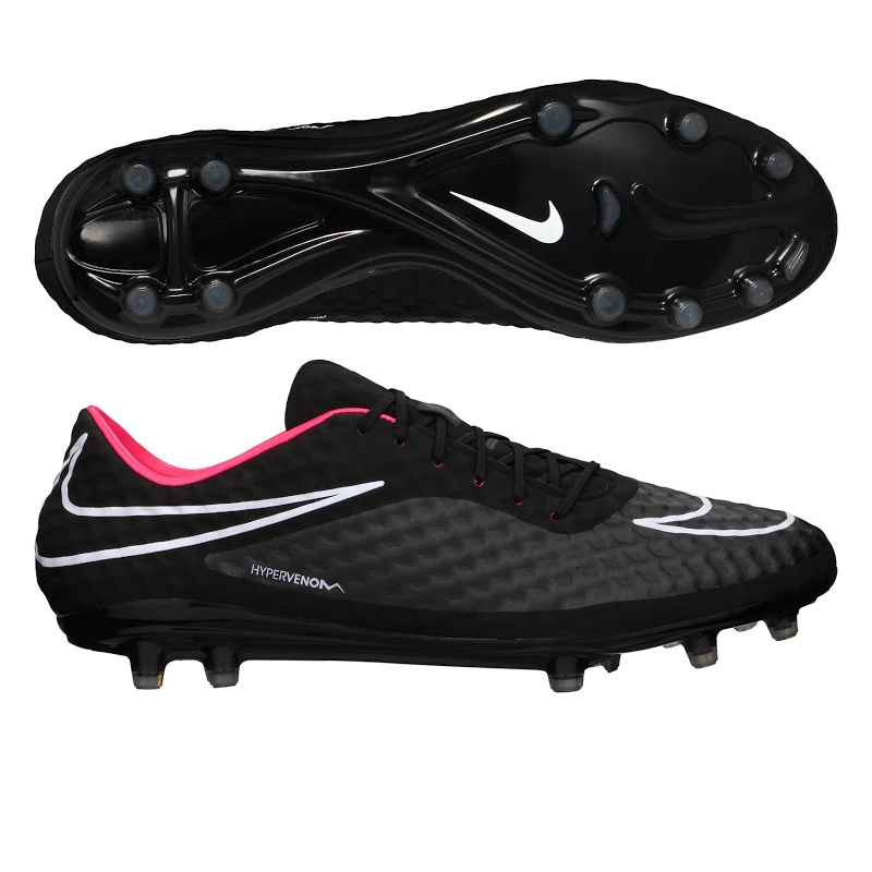 new style 712bb cc6a8 ... hot nike hypervenom phantom fg soccer cleats black hyper punch white  da8ed c020b