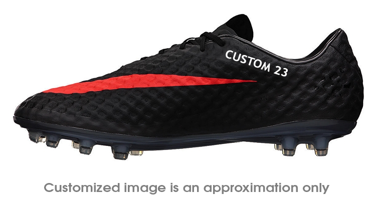 17bb7c6e674c Nike Hypervenom Phantom FG CUSTOM Soccer Cleats (Dark Charcoal Black Total  Crimson)