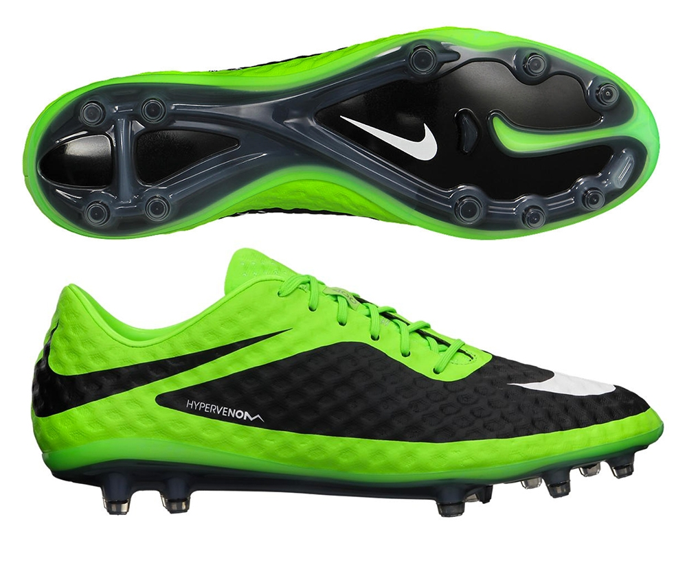 nike hypervenom phantom fg football cleats for men green yellow black white