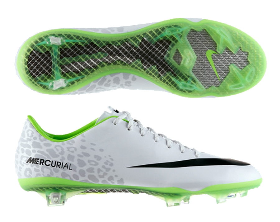 half off e9d88 1ef7e Nike Mercurial Vapor IX Reflective Soccer Cleats (Reflective WhiteElectric  GreenBlack)