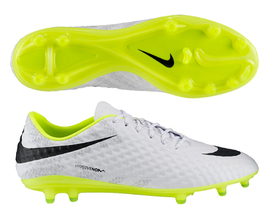 uk store 2018 shoes new arrive Nike Hypervenom Phantom Reflective FG Soccer Cleats (White/Volt)