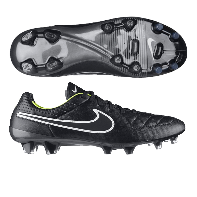 Nike Tiempo Legend V FG Soccer Cleats BlackVoltWhite