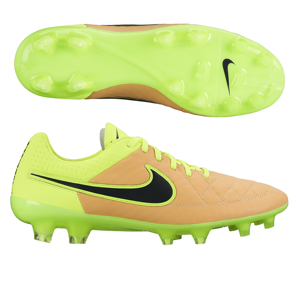 Nike Tiempo Legend V FG Soccer Cleats (Canvas/Volt/Black)