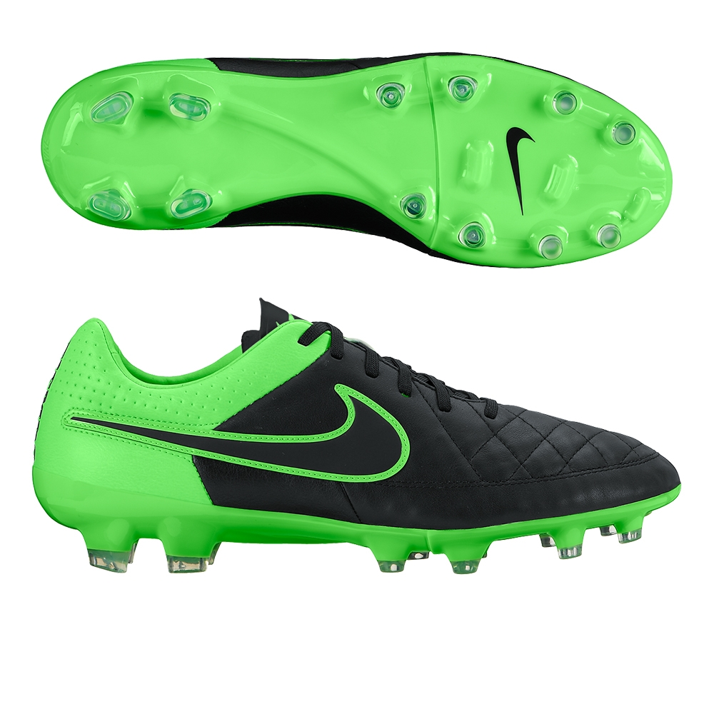38dcf056b Tiempo Legacy FG Soccer Cleats (Black/Green Strike) | 631521-003 ...