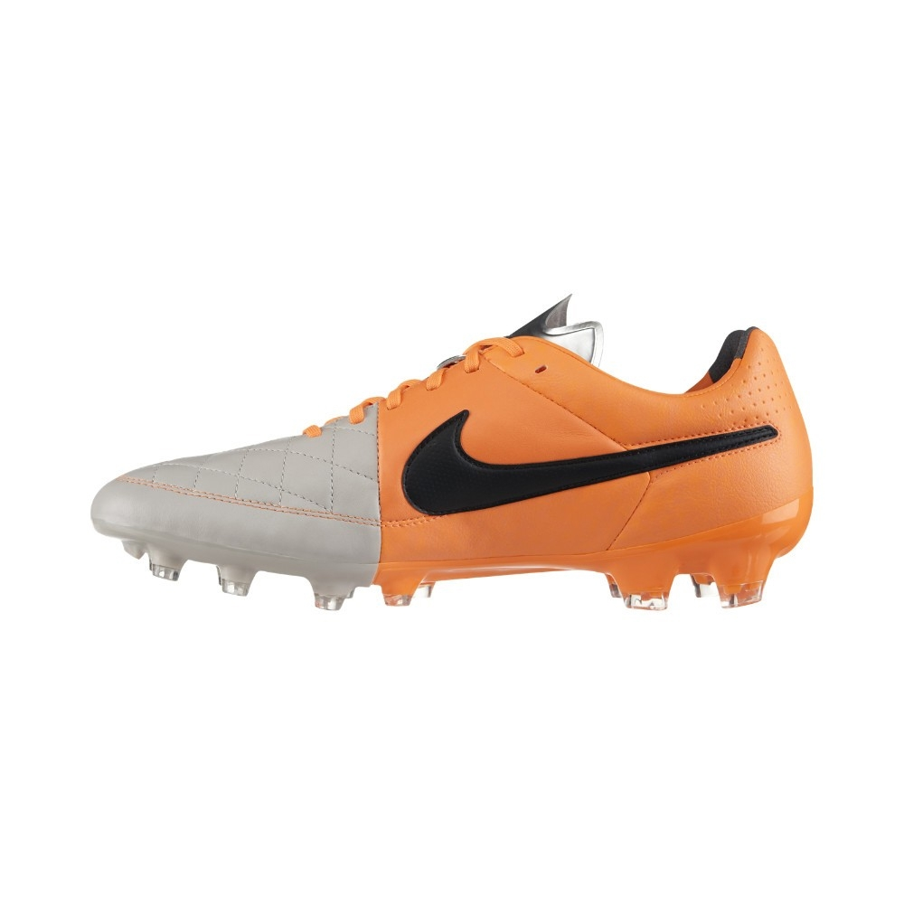 Nike Tiempo Legacy FG Soccer Cleats (Desert Sand/Atomic Orange/Black)