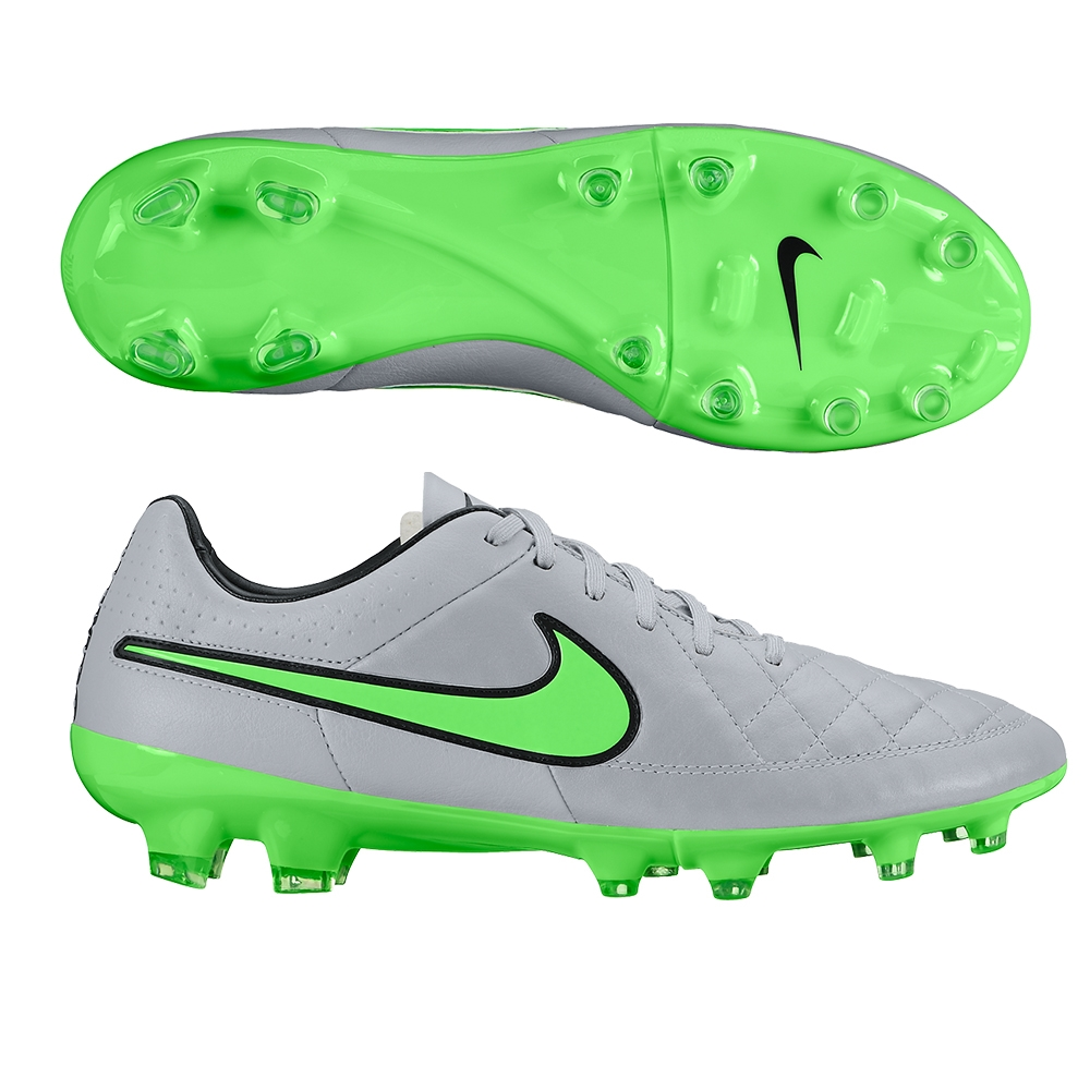 on sale 645a9 f4fda Nike Tiempo Legacy FG Soccer Cleats (Wolf Grey/Green Strike)