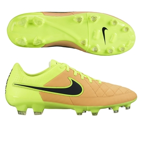 Nike Tiempo Legacy FG Soccer Cleats (Canvas/Volt/Black)