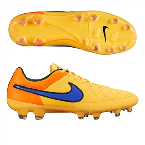 Nike Tiempo Legacy FG Soccer Cleats (Laser Orange/Total Orange/Volt/Persian)