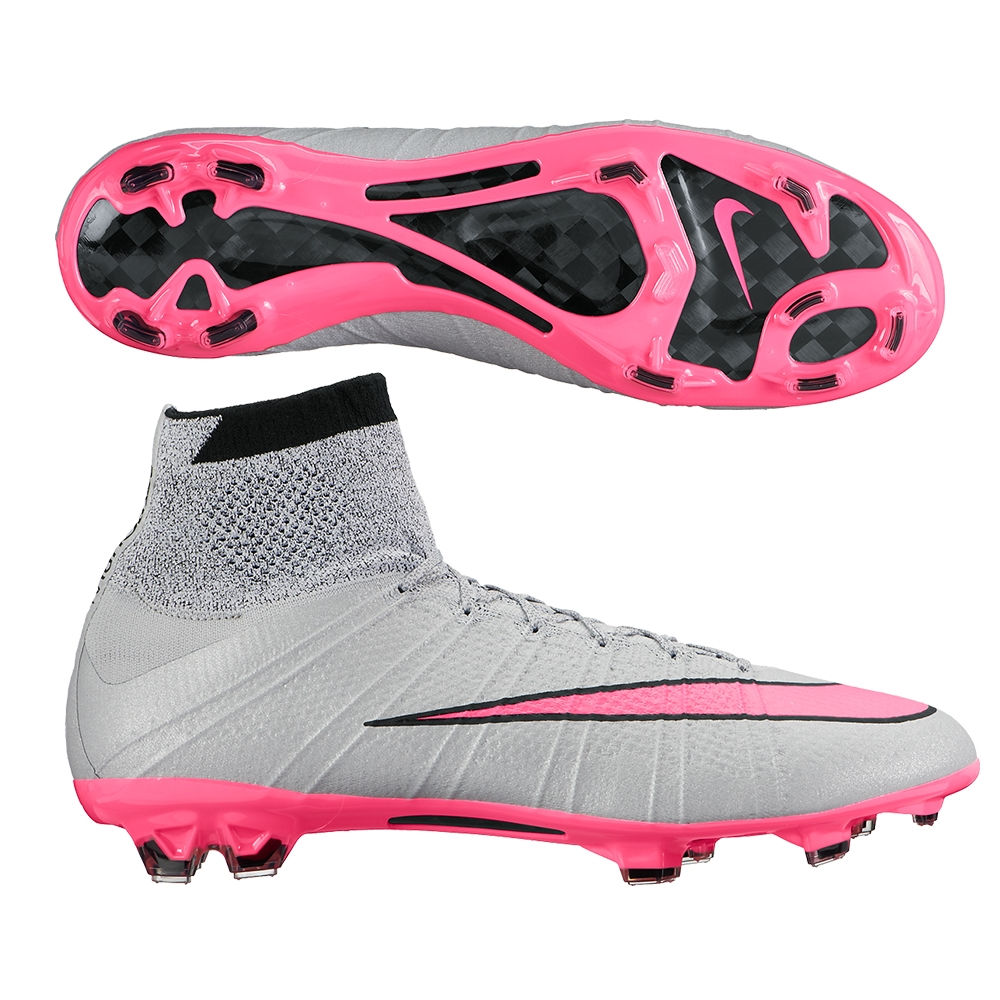 newest 0e2b0 6d4b8 Nike Mercurial SuperFly IV FG Soccer Cleats (Wolf Grey/Hyper Pink)