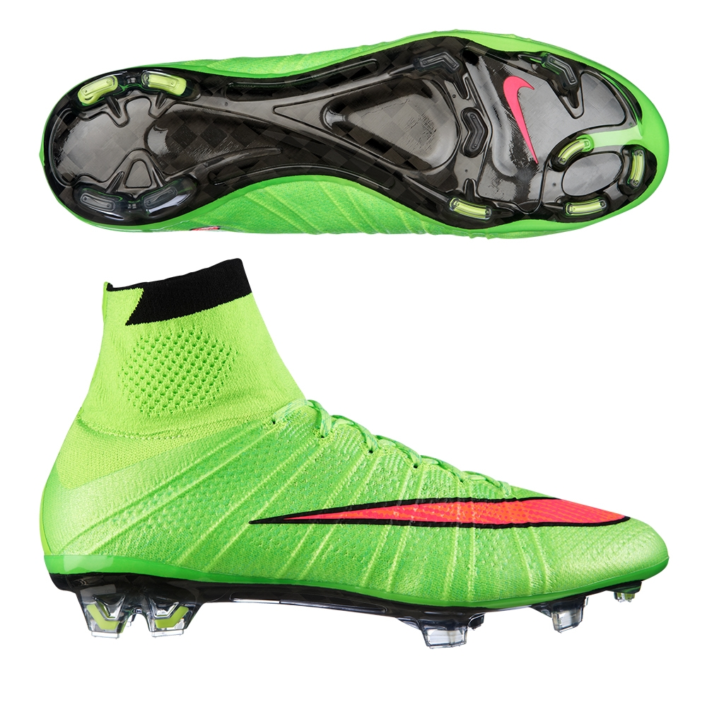 Nike Mercurial SuperFly IV Soccer Cleats (Electric Green/Volt/Black/Hyper  Punch)
