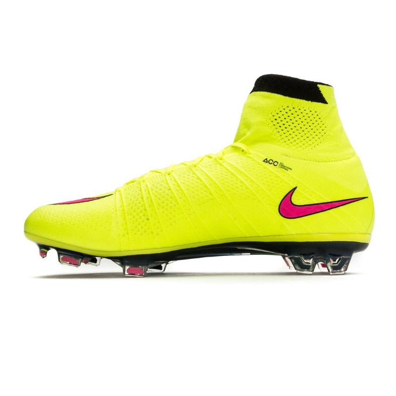 the best attitude bba19 4f9c6 Nike Mercurial SuperFly IV FG Soccer Cleats (Volt/Black/Hyper Pink)