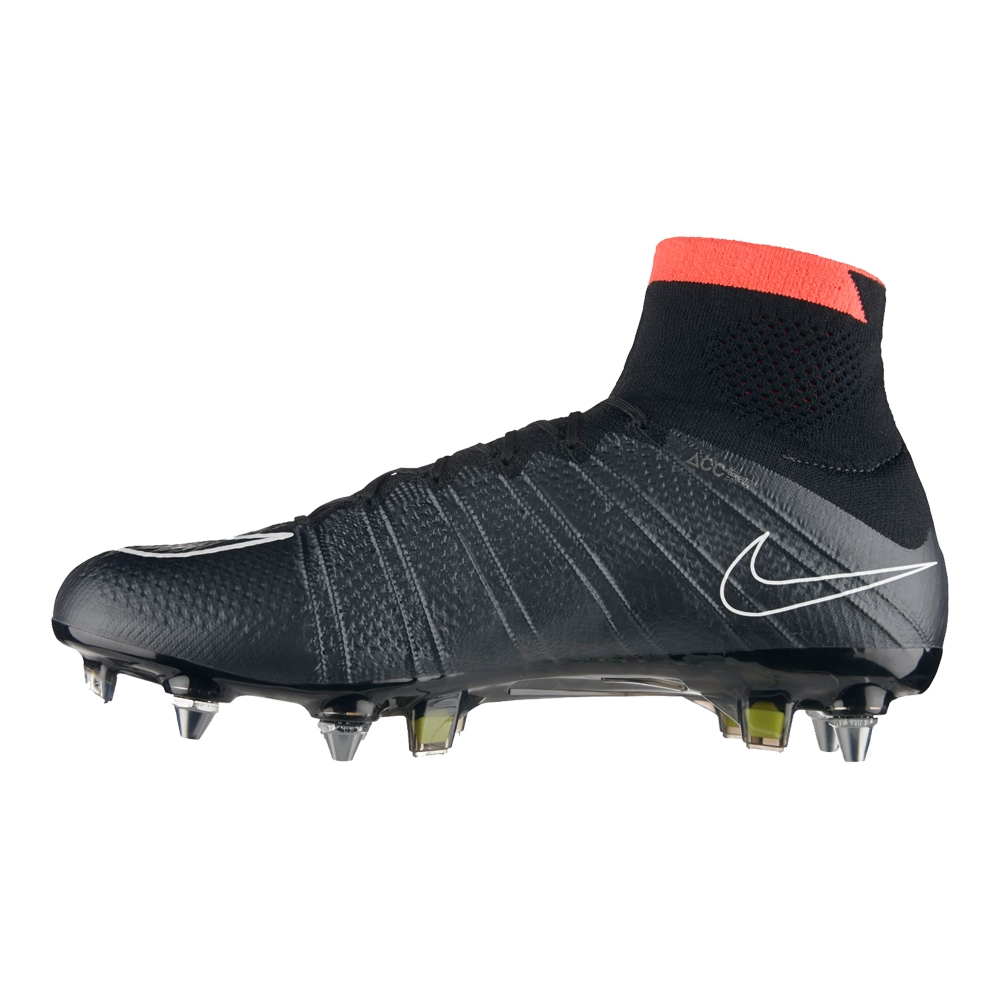 2e8837668 Nike Mercurial SuperFly IV SG-Pro Soccer Cleats (Black Hyper Punch Volt  White)