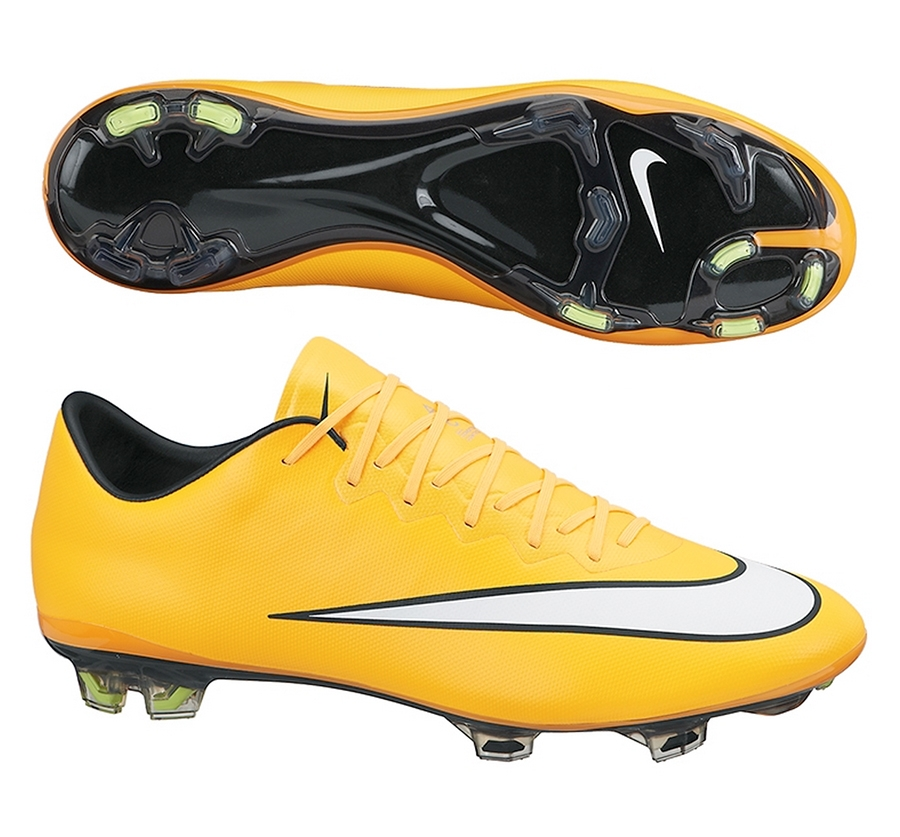 Nike Mercurial Vapor X Soccer Cleats (Laser Orange/Black/Volt/White)