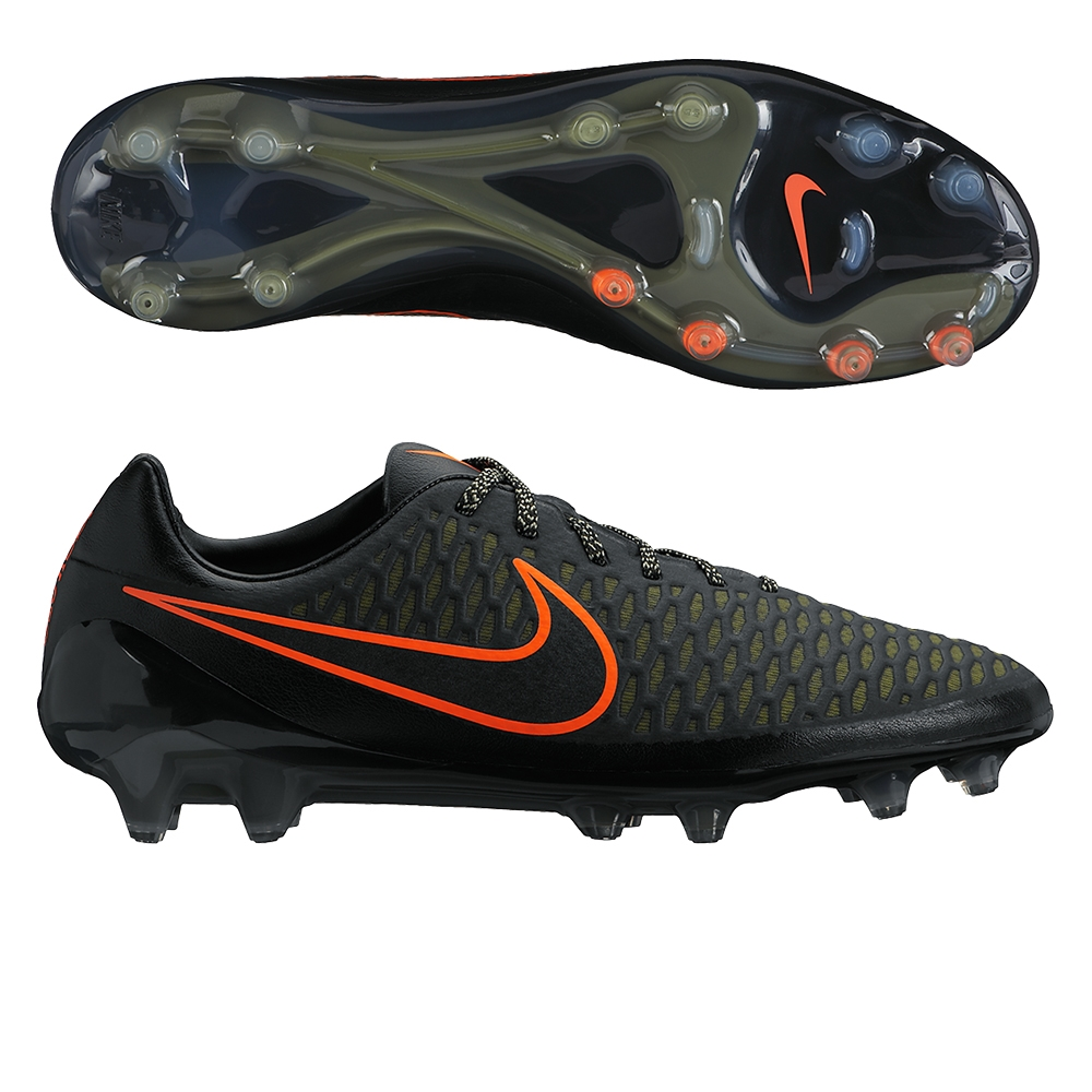Nike Magista Opus FG - Men's Black/Rough Green/Black