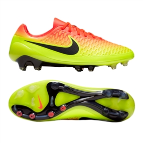 Nike Magista Opus FG Soccer Cleats (Total Crimson/Black/Volt/Bright Citrus)
