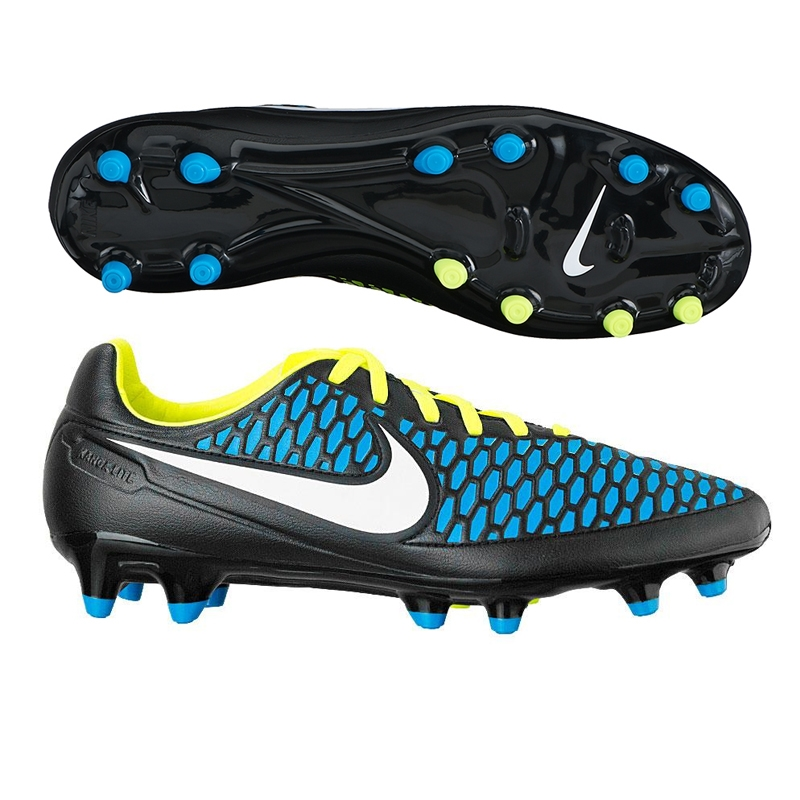 3b6b2fba65a4 Magista Orden FG Soccer Cleats (Black Blue Lagoon Volt White ...