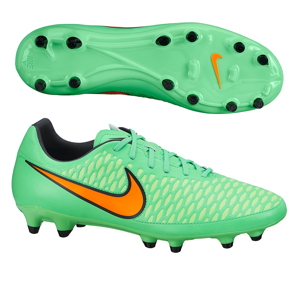 green and orange nike soccer shoes