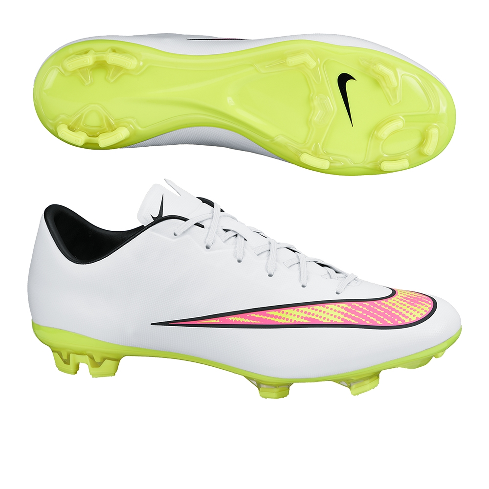 Nike Mercurial Veloce II FG Soccer Cleats (White Hyper Pink Volt ... 4ee1986d2
