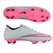 Nike Mercurial Victory V FG Soccer Cleats (Wolf Grey/Black/Hyper Pink)