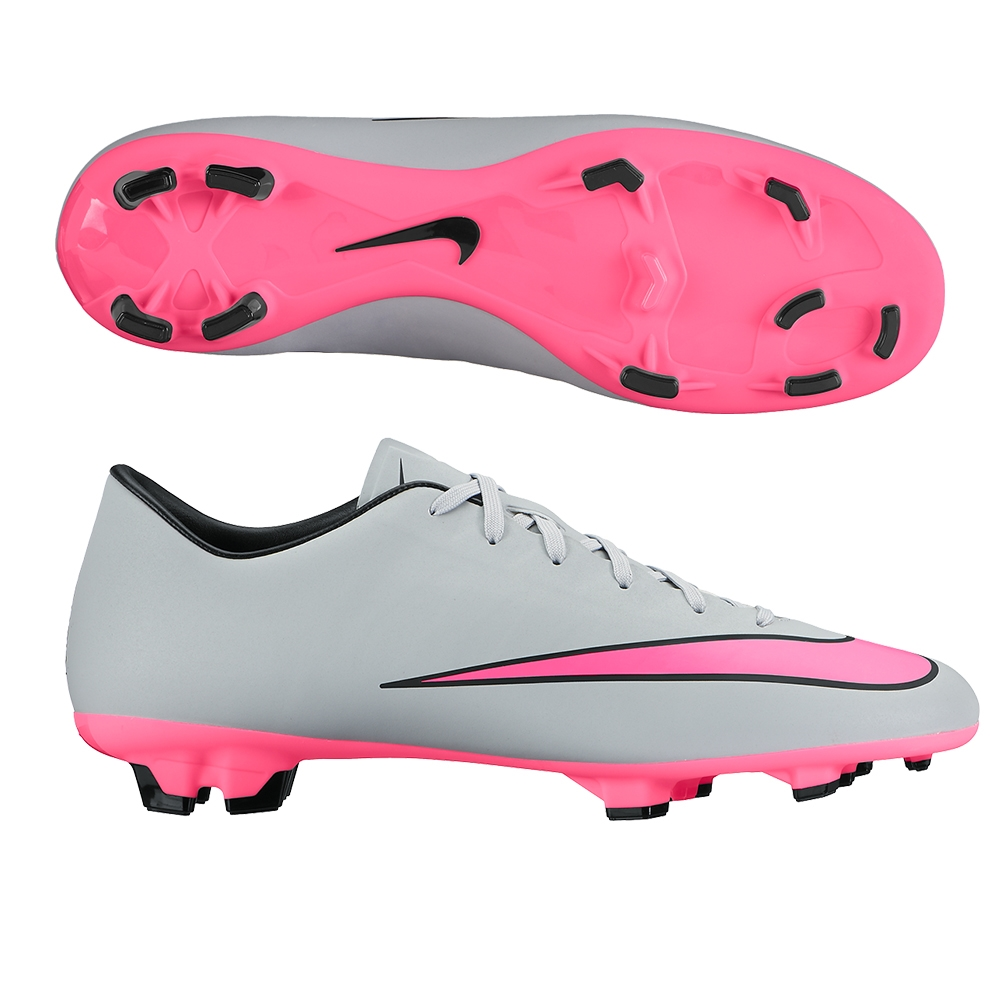 best loved e3f14 ab199 Nike Mercurial Victory V FG Soccer Cleats (Wolf Grey/Black/Hyper Pink)