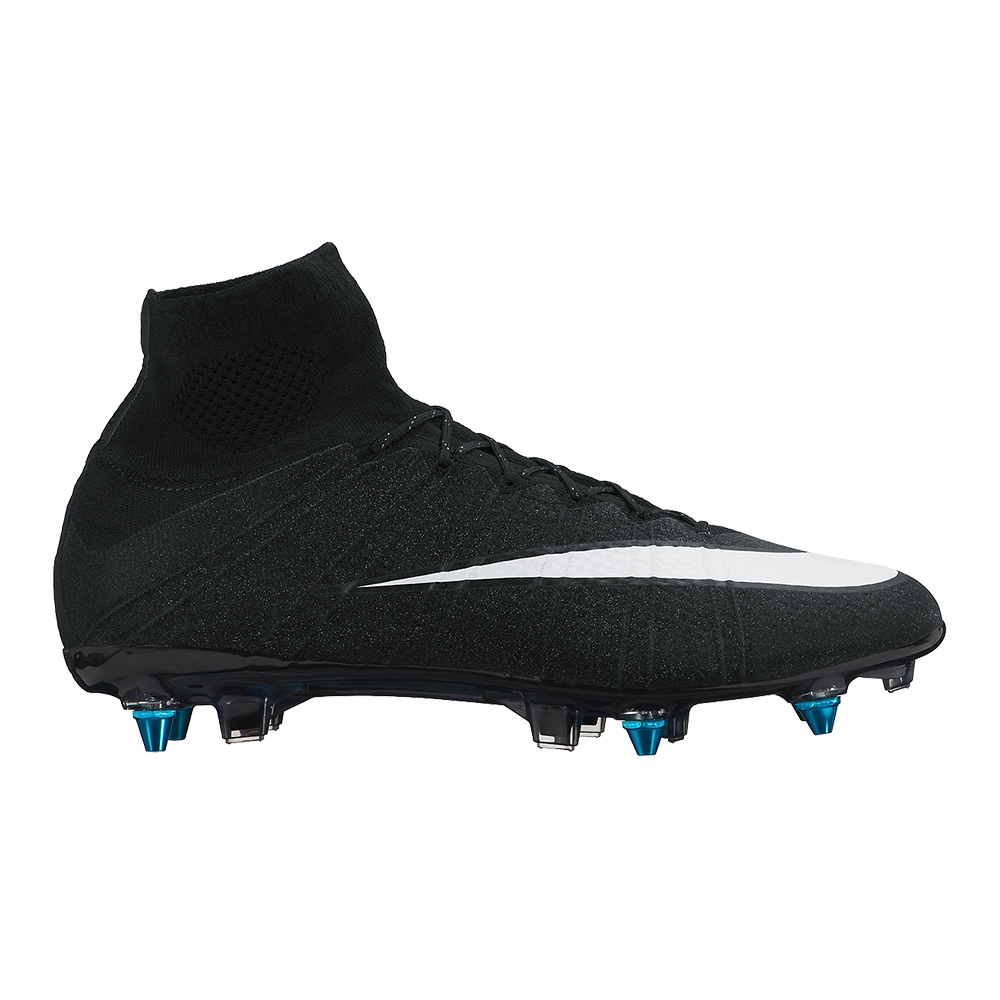 low priced 43918 dd212 Nike Mercurial SuperFly IV CR7 SG-Pro Soccer Cleats (Black/White)